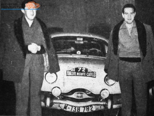 Montecarlo 1958: Estanislao Reverter y su hermano