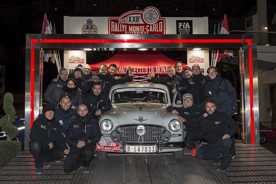 El SEAT 1400, entre los mejores en el Rallye Monte-Carlo Histórico