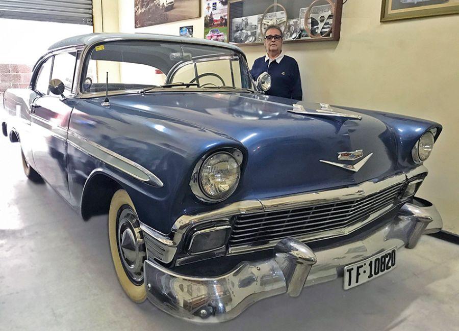 Chelo y su Chevrolet Bel Air de 1956